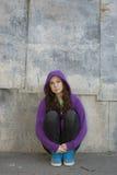Menina adolescente Grunge imagens de stock royalty free