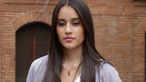 Menina adolescente impassível séria imagem de stock royalty free
