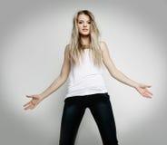 Menina adolescente irritada Fotografia de Stock Royalty Free