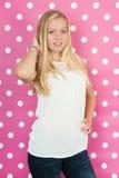 Menina adolescente loura Fotografia de Stock Royalty Free