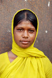 Menina adolescente na área da região carbonífera de Jharia Imagem de Stock Royalty Free