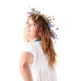 Menina adolescente na grinalda do verão Imagem de Stock Royalty Free