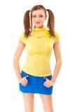 Menina-adolescente na roupa brilhante foto de stock royalty free