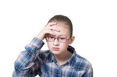 Menina adolescente nas meditação, foto de stock