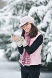 Menina adolescente no parque Foto de Stock