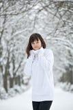 Menina adolescente no parque Fotos de Stock Royalty Free