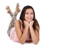 Menina adolescente ocasional imagens de stock