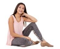 Menina adolescente ocasional foto de stock royalty free