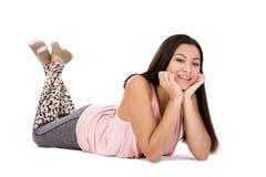 Menina adolescente ocasional fotografia de stock