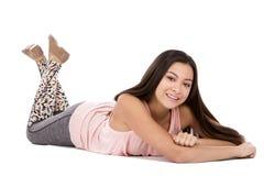Menina adolescente ocasional fotografia de stock royalty free