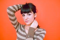 Menina adolescente pensativa fotos de stock royalty free