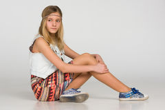 Menina adolescente pensativa Fotografia de Stock
