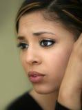 Menina adolescente preocupada imagem de stock