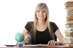 Menina adolescente que aprende Foto de Stock