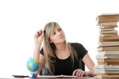 Menina adolescente que aprende Fotos de Stock