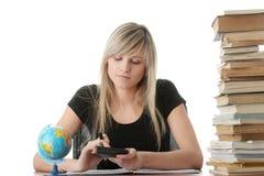 Menina adolescente que aprende Imagem de Stock Royalty Free