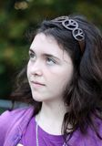 Menina adolescente que daydreaming Imagens de Stock