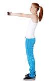 Menina adolescente que faz exercícios. Imagens de Stock Royalty Free