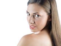 Menina adolescente que faz a expressão fotografia de stock royalty free
