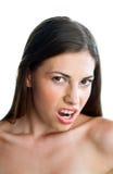 Menina adolescente que faz a expressão fotos de stock