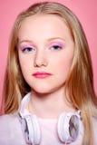 Menina adolescente séria foto de stock royalty free