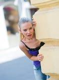 Menina adolescente surpreendida Imagens de Stock Royalty Free