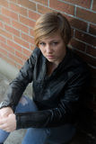 Menina adolescente triste Imagens de Stock Royalty Free