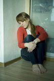 Menina adolescente triste nova Fotografia de Stock Royalty Free