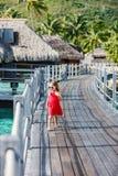 Menina adorável na praia Imagem de Stock Royalty Free