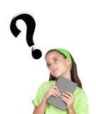 Menina adorável que questiona algo Fotos de Stock