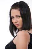 Menina adulta nova bonita no vestido elegante Fotografia de Stock Royalty Free