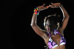 Menina africana do biquini fotografia de stock