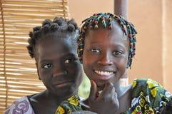 Menina africana feliz fotografia de stock