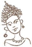 Menina africana nova Imagem de Stock Royalty Free