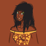 Menina africana 'sexy' da forma Fotografia de Stock Royalty Free