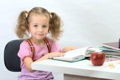 A menina agradável com o livro fotografia de stock royalty free