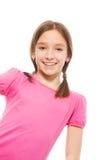 Menina agradável e sorrindo Fotos de Stock Royalty Free