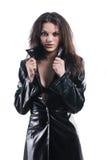 Menina agradável no casaco Fotografia de Stock