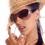 Menina agradável do retrato Fotos de Stock Royalty Free