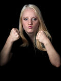 A menina agressiva. Imagem de Stock Royalty Free