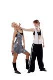 Menina agressiva Imagens de Stock Royalty Free