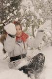 Menina alegre do retrato Imagem de Stock