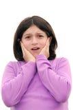 Menina amedrontada Imagens de Stock