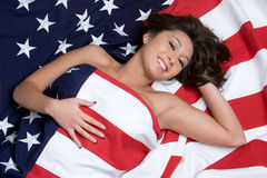 Menina americana asiática imagem de stock royalty free