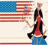 Menina americana bonita 3 ilustração royalty free