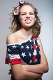 Menina americana bonito com sorriso toothy Imagem de Stock Royalty Free