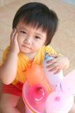 Menina & balões Fotografia de Stock