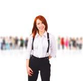 Menina & unidade de negócio Imagem de Stock Royalty Free