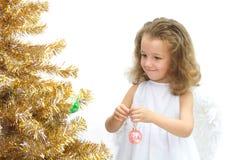 A menina - anjo fotografia de stock