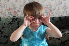 Menina, 3 anos velha foto de stock royalty free